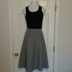 A Pendleton Gray Wool A-LINE Skirt